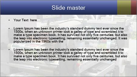 Offset Machine PowerPoint Template - Slide 2