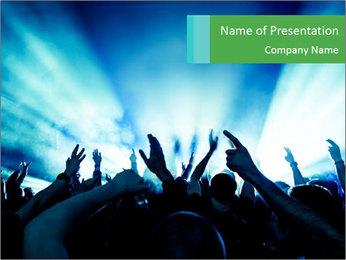 Fun Disco Club PowerPoint Template - Slide 1