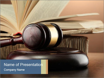 Law Concept PowerPoint Template - Slide 1