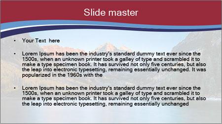 Sunrise at Maroon Bells PowerPoint Template - Slide 2