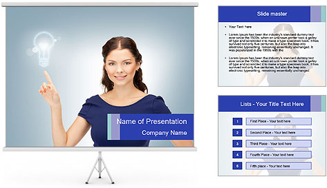 Happy woman PowerPoint Template