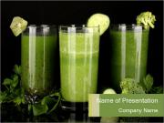 Three kinds of green juice PowerPoint Templates