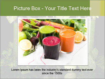 Three kinds of green juice PowerPoint Template - Slide 15
