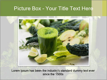Three kinds of green juice PowerPoint Template - Slide 16