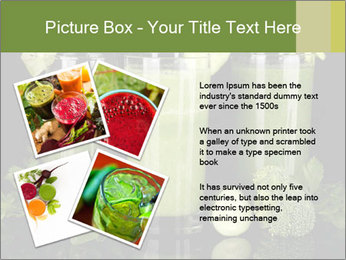 Three kinds of green juice PowerPoint Template - Slide 23