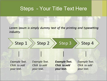 Three kinds of green juice PowerPoint Template - Slide 4
