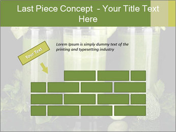 Three kinds of green juice PowerPoint Template - Slide 46