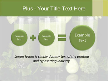 Three kinds of green juice PowerPoint Template - Slide 75