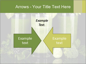 Three kinds of green juice PowerPoint Template - Slide 90