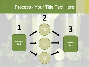 Three kinds of green juice PowerPoint Template - Slide 92