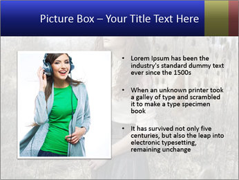 Beautiful girl in the fall nature PowerPoint Template - Slide 13