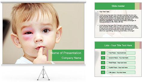 Little boy dangerous PowerPoint Template