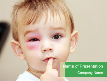 Little boy dangerous PowerPoint Template - Slide 1
