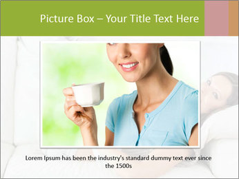 Calm woman lying on the sofa PowerPoint Template - Slide 16