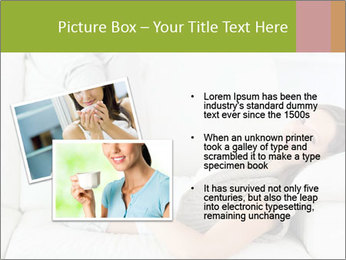 Calm woman lying on the sofa PowerPoint Template - Slide 20