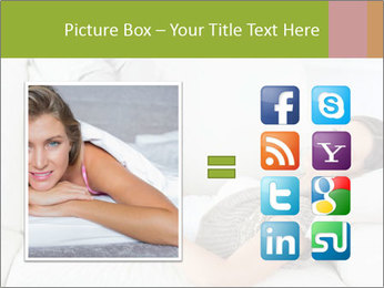 Calm woman lying on the sofa PowerPoint Template - Slide 21