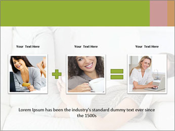 Calm woman lying on the sofa PowerPoint Template - Slide 22
