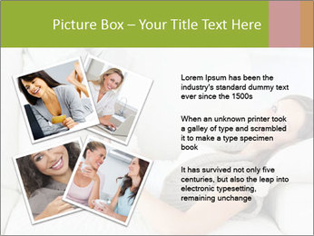 Calm woman lying on the sofa PowerPoint Template - Slide 23