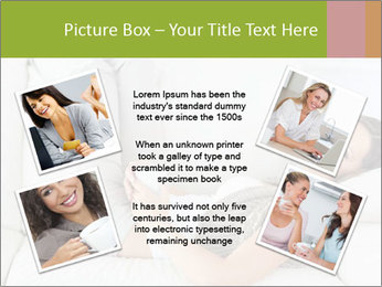 Calm woman lying on the sofa PowerPoint Template - Slide 24
