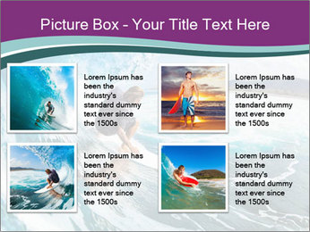 Surfer on Blue Ocean PowerPoint Templates - Slide 14