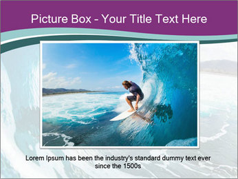 Surfer on Blue Ocean PowerPoint Templates - Slide 15