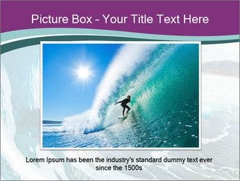 Surfer on Blue Ocean PowerPoint Templates - Slide 16
