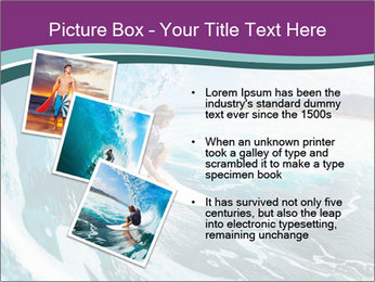 Surfer on Blue Ocean PowerPoint Templates - Slide 17