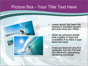 Surfer on Blue Ocean PowerPoint Templates - Slide 20