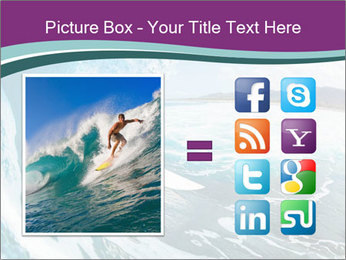 Surfer on Blue Ocean PowerPoint Templates - Slide 21
