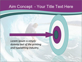 Surfer on Blue Ocean PowerPoint Templates - Slide 83