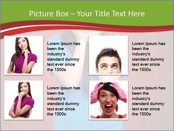 Young woman screaming PowerPoint Template - Slide 14