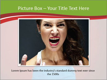 Young woman screaming PowerPoint Template - Slide 15