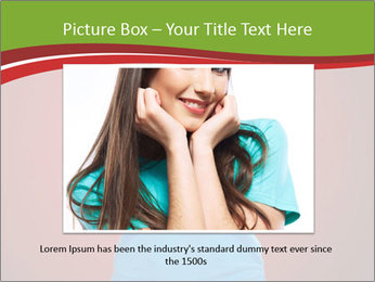 Young woman screaming PowerPoint Template - Slide 16