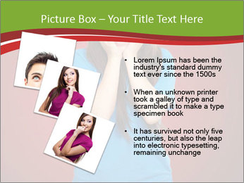 Young woman screaming PowerPoint Template - Slide 17