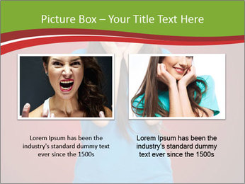Young woman screaming PowerPoint Template - Slide 18