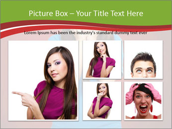 Young woman screaming PowerPoint Template - Slide 19