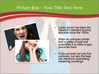 Young woman screaming PowerPoint Template - Slide 20