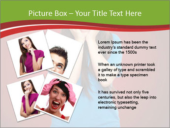 Young woman screaming PowerPoint Template - Slide 23