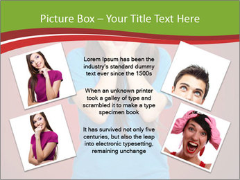 Young woman screaming PowerPoint Template - Slide 24