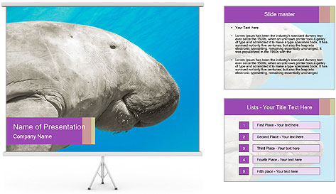 The sea cow PowerPoint Template