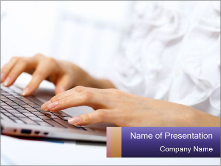 Young manager working PowerPoint Templates