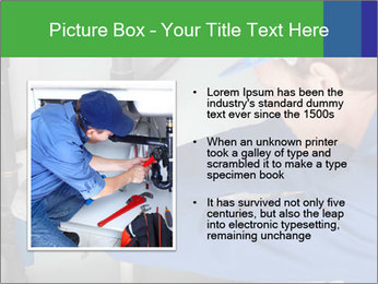 Man using a large red wrench PowerPoint Template - Slide 13