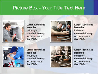 Man using a large red wrench PowerPoint Template - Slide 14