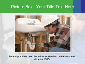 Man using a large red wrench PowerPoint Template - Slide 15
