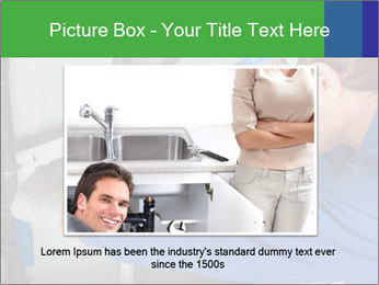 Man using a large red wrench PowerPoint Template - Slide 16