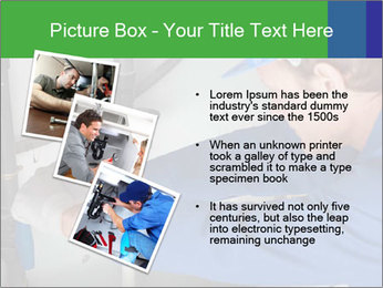 Man using a large red wrench PowerPoint Template - Slide 17