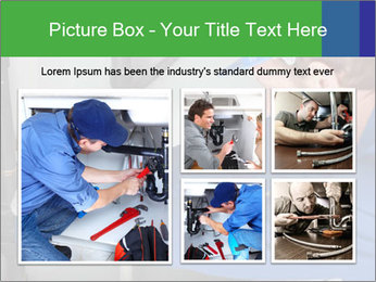 Man using a large red wrench PowerPoint Template - Slide 19
