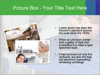 Man using a large red wrench PowerPoint Template - Slide 20