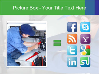 Man using a large red wrench PowerPoint Template - Slide 21