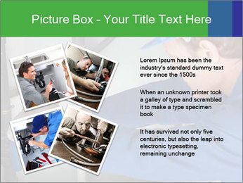 Man using a large red wrench PowerPoint Template - Slide 23
